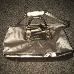Coach Gold Leather Purse with gold hardware Zoe